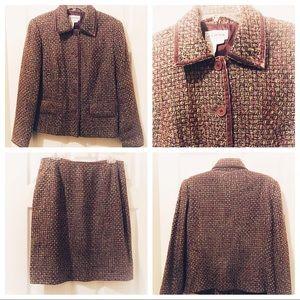 J. G. Hook Plus Size Tweed Suit Size 14